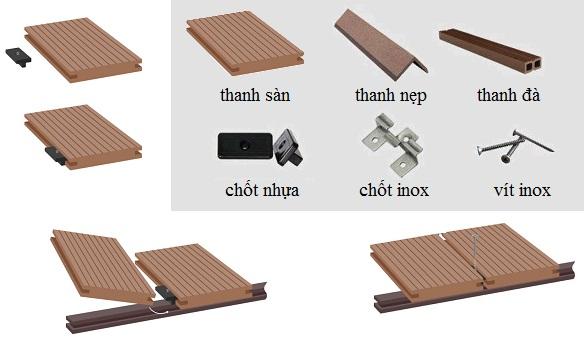 Sàn gỗ ngoài trời chất lượng cao, bền màu, chống mối mọt giá tốt nhất