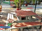 Bàn ghế giả gỗ ngoài trời TecWood