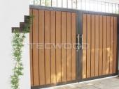 cổng gỗ nhựa Tecwood
