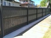 hàng rào gỗ nhựa trang trí