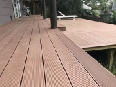 làm sàn gỗ nhựa ngoài trời