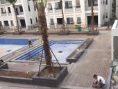 lắp đặt sàn gỗ hồ bơi dự án The Manor