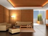 ốp tường gỗ phòng khách