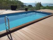 sàn gỗ nhựa bể bơi ngoài trời