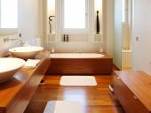 sàn gỗ công nghiệp cho nhà tắm