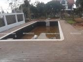 thi công sàn gỗ hồ bơi tại biệt thự Sóc Sơn