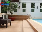sàn gỗ bể bơi ngoài trời