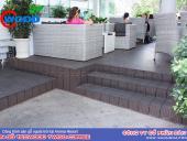 Cafe sân vườn với ván sàn ngoài trời Tecwood 140-Coffee