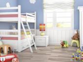 Lắp đặt sàn gỗ cho phòng bé