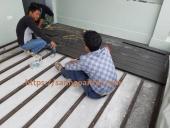 lắp sàn gỗ sân thượng