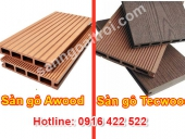 So sánh sàn gỗ ngoài trời Tecwood và Awood
