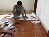 Thi công sàn gỗ căm xe như thế nào là đúng quy trình